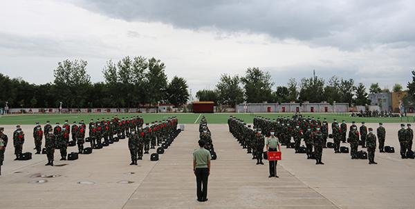 武警北京总队新训三大队喜迎2020年新兵入营
