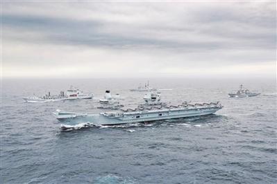 英军首次组建航母战斗群