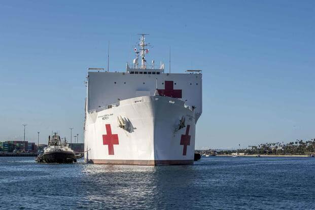 洛杉磯再度請求美軍醫院船支援,軍方回復:正在大修,修完還要海試