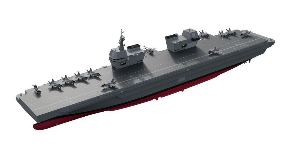 韓國輕型航母設計曝光:采用直通甲板,配備雙艦島