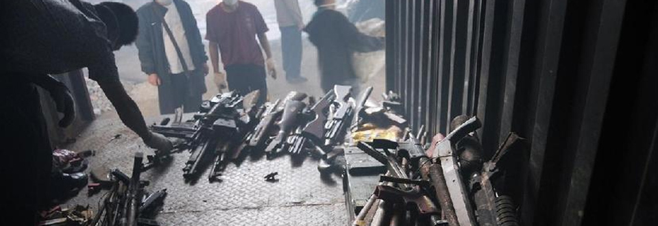 長沙警方用熔爐銷毀各類收繳槍支4236支