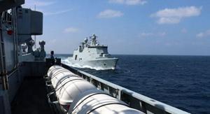 中國護航編隊與北約508編隊亞丁灣聯演
