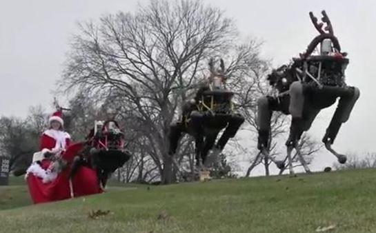 美軍大狗機器人扮聖誕馴鹿