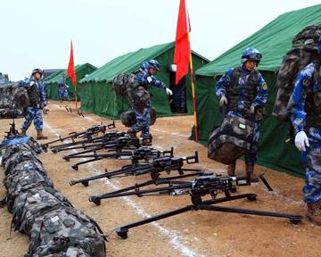 海軍陸戰隊赴寒區開展訓練