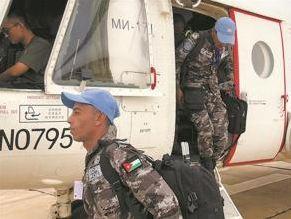 我第2批赴蘇丹達爾富爾維和直升機分隊完成輪換運輸任務