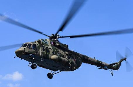 俄一架米—8直升機硬著陸2人死亡