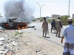 也門防長車隊觸雷致6人死亡