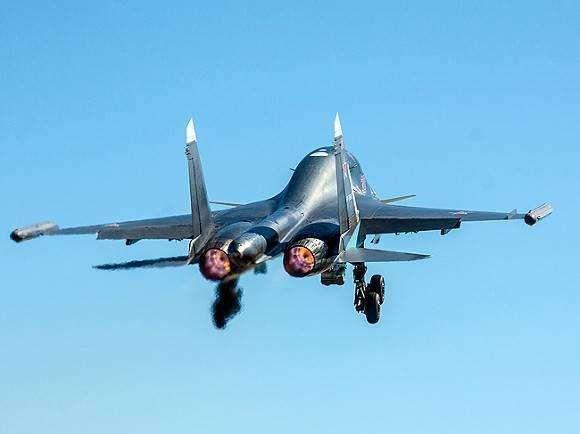 俄羅斯一架蘇-34戰機在俄遠東地區墜毀