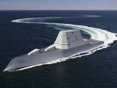 """美媒:美""""朱姆沃爾特""""號驅逐艦首次試射導彈"""
