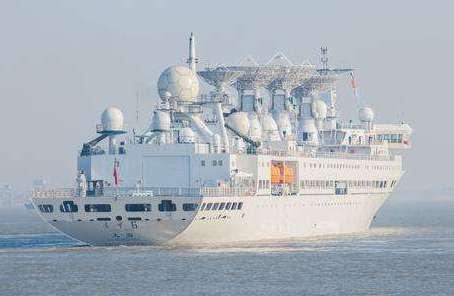 遠望6號船執行海上測控任務