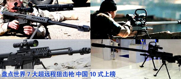 盤點世界7大超遠程狙擊槍 中國10式上榜