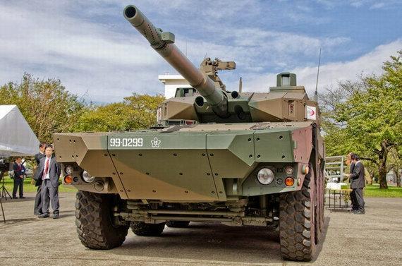 日本13式戰車瞄準釣魚島