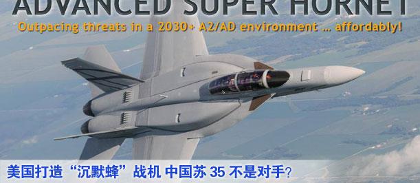 """美國打造""""沉默蜂""""戰機 中國蘇35不是對手?"""