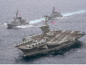 日艦與美航母聯合演練 專家:向朝鮮施壓並展示軍力