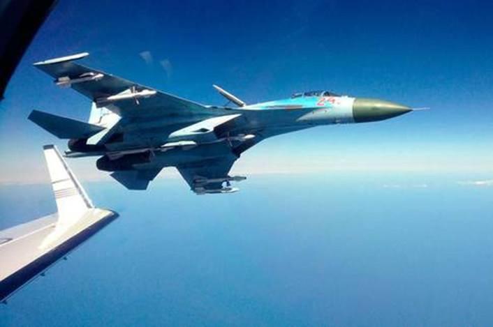 俄戰機上周14次攔截外國偵察機