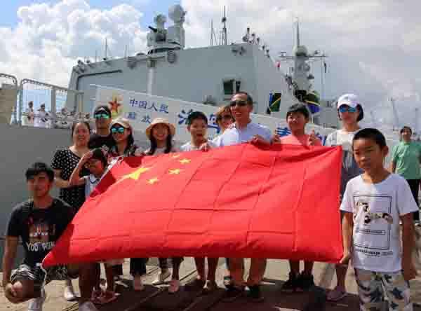 中國海軍遠航訪問編隊抵達坦桑尼亞訪問