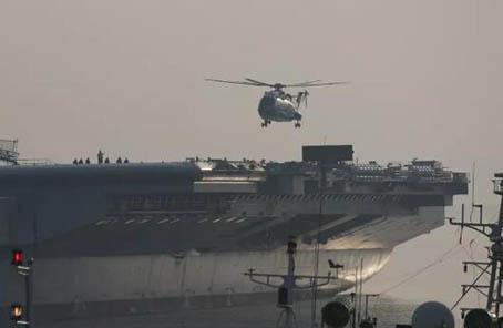國産航母直升機完成甲板起降意味著啥