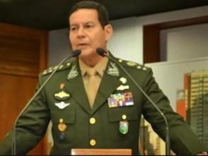 印第安血統將軍出任巴西副總統 曾宣稱軍隊應幹預政局