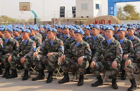 中國第4批赴南蘇丹(朱巴)維和步兵營凱旋