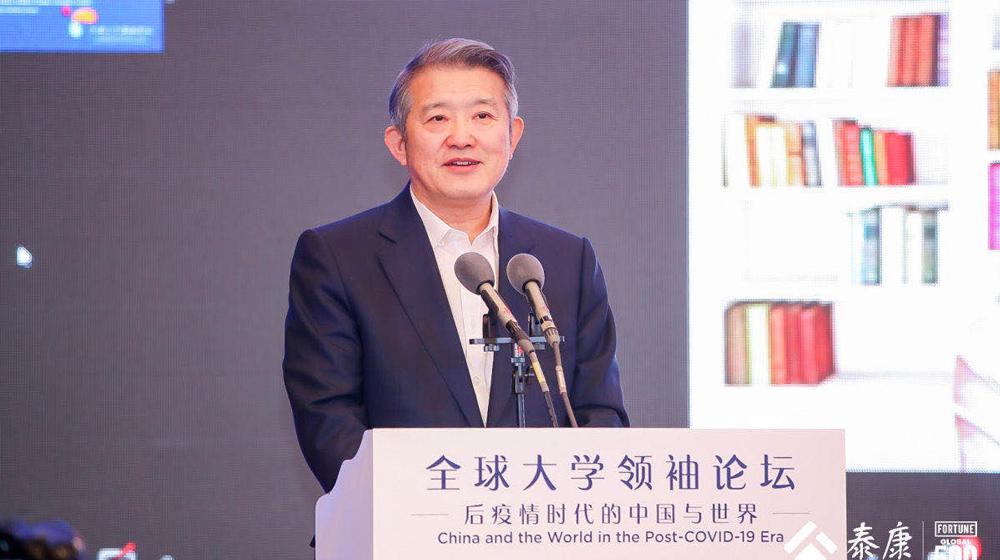泰康集團董事長陳東升發表演講