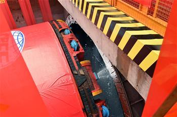 國內設計時速最快的地鐵線首臺盾構始發