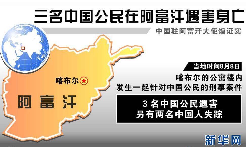 三名中國公民在阿富汗遇害身亡 官方已證實