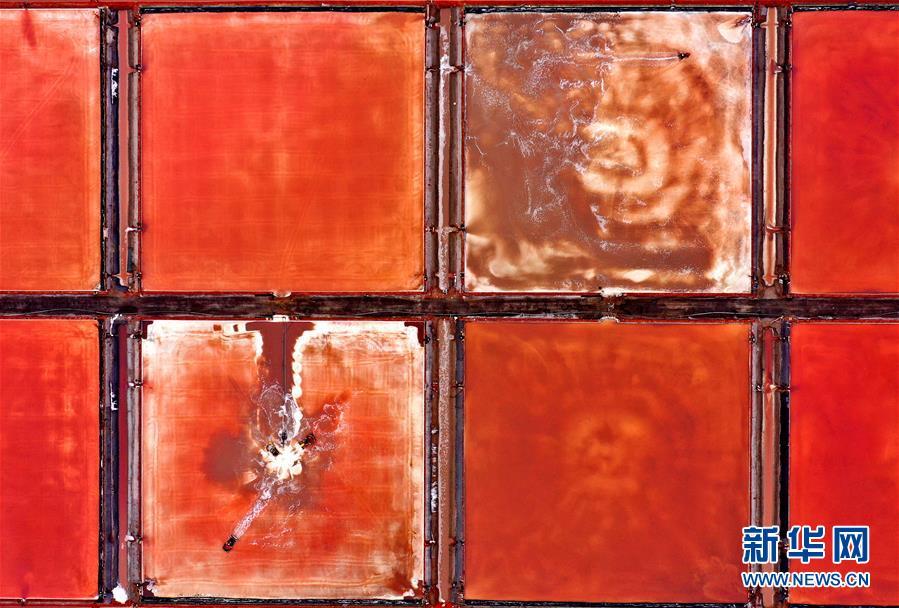 (环境)(2)海盐收获 缤纷如画