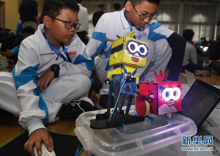 (科技)(4)2019中国智能机器人大赛在青岛举行