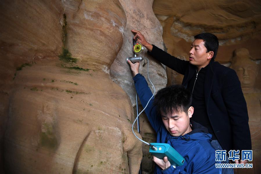 常态化检测 保护北石窟
