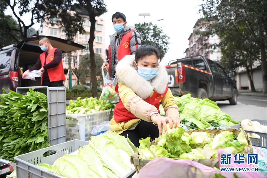 (聚焦疫情防控)(3)重慶:疫情下的鄉村蔬菜配送小隊