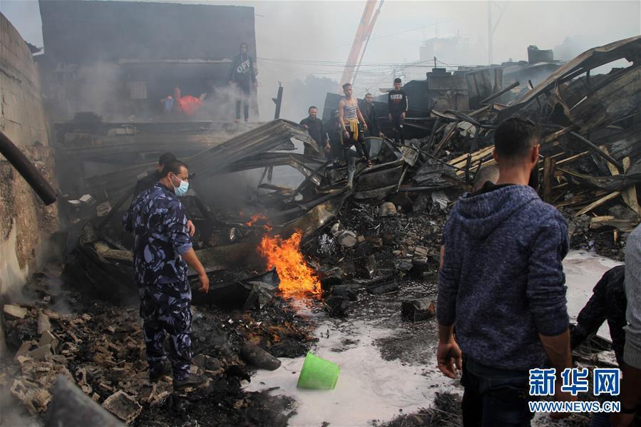 (國際)(1)加沙一面包房引發火災9人死亡