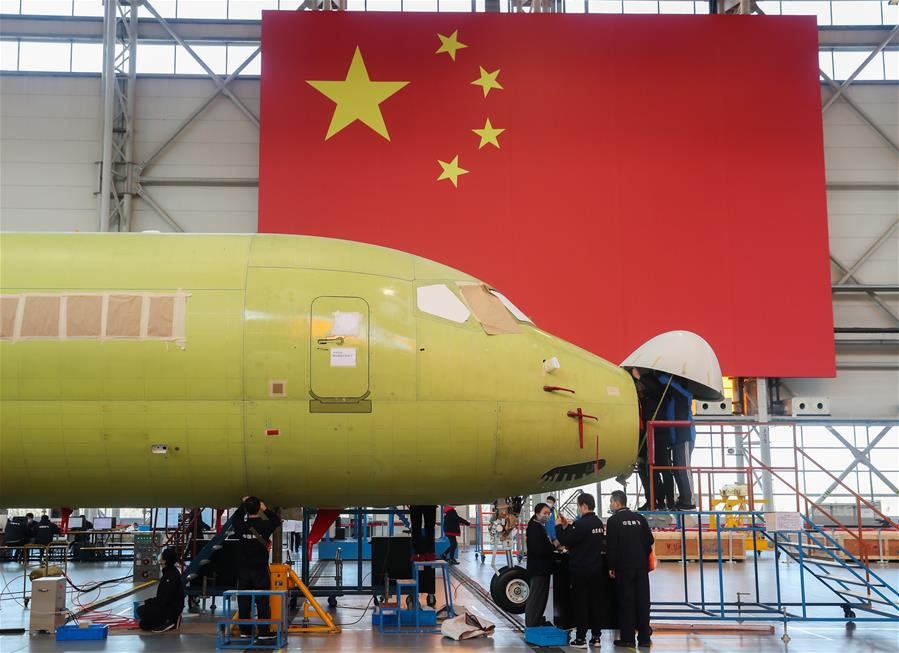 (經濟)(1)ARJ21飛機生産線復工復産