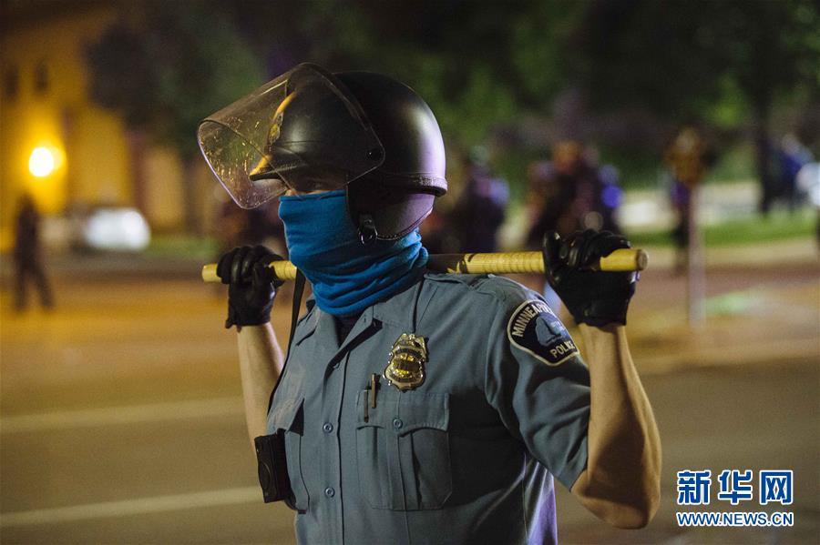 (國際)(1)美國明尼阿波利斯的抗議示威活動持續