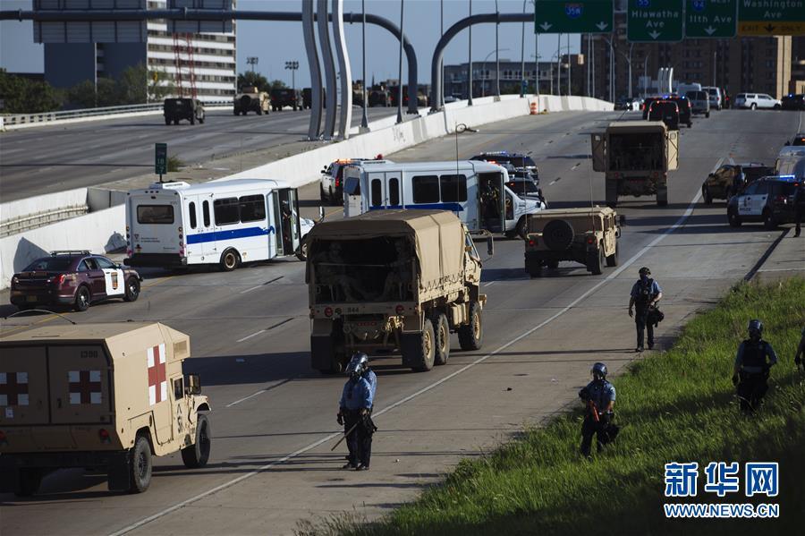 (國際)(6)美國明尼阿波利斯的抗議示威活動持續