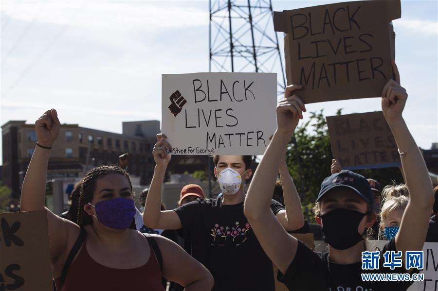 (國際)(10)美國明尼阿波利斯的抗議示威活動持續