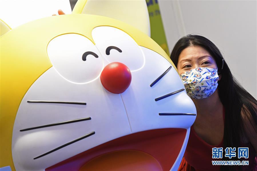 (国际)(1)新加坡国家博物馆举行哆啦A梦展览