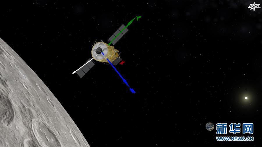 嫦娥五号探测器再次实施制动 进入近圆形环月轨道飞行