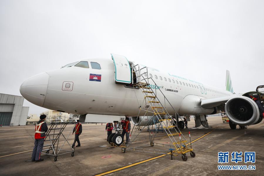 图片新闻:海南自贸港迎来首单境飞机进境保税维修业务