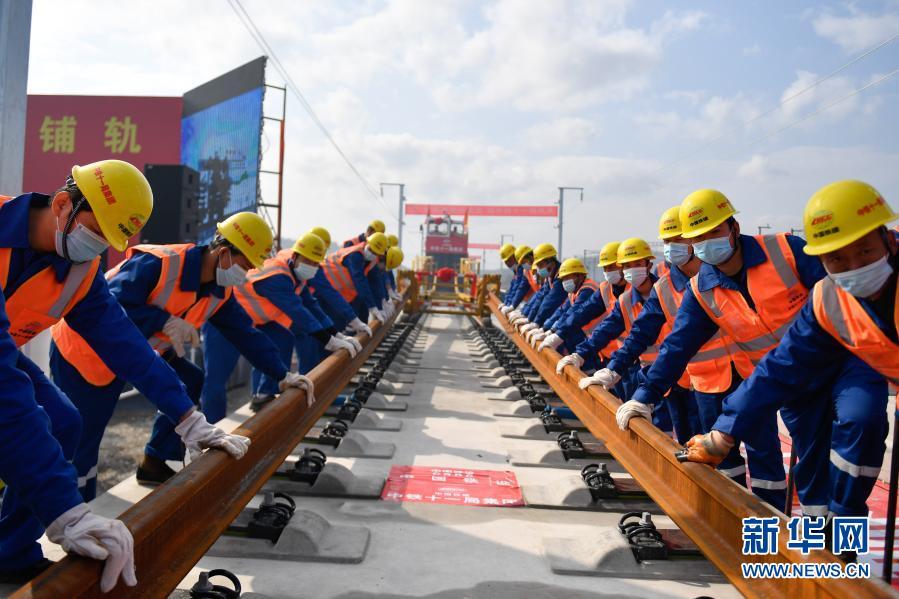 我国首条民营控股高铁!杭绍台铁路全线铺轨