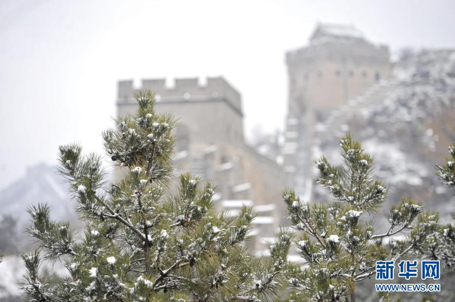 美如画卷!春雪润长城