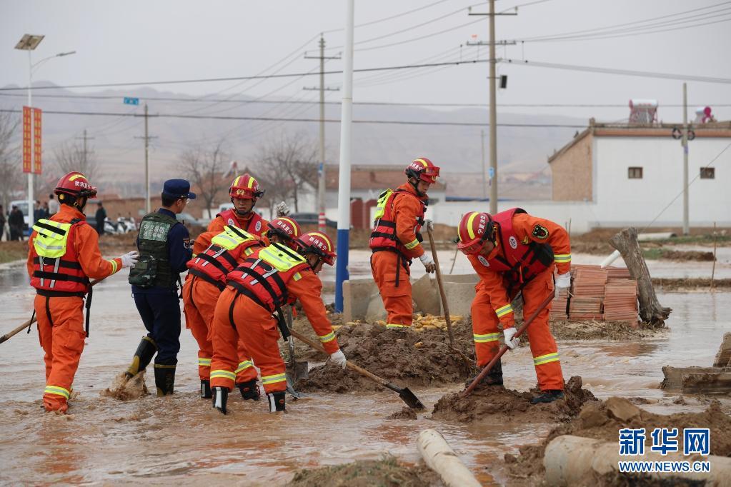 宁夏中宁县一蓄水池发生溃坝 部分民房被淹
