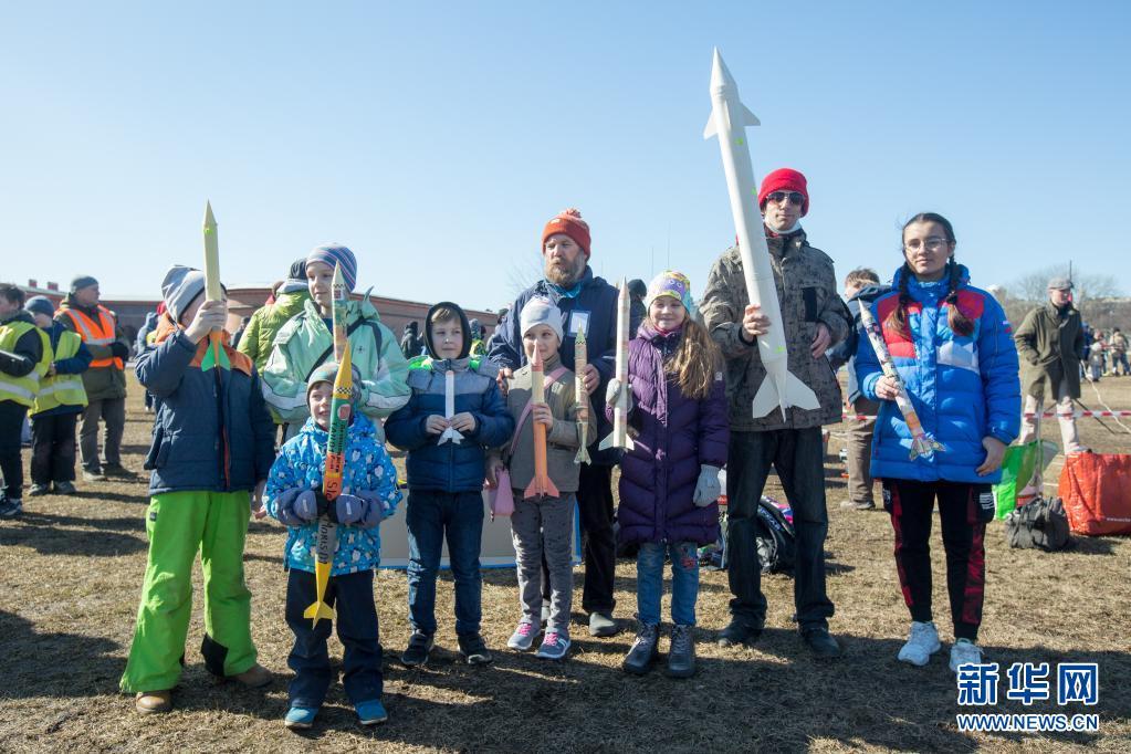 圣彼得堡举行火箭爱好者聚会 纪念加加林太空飞行60周年