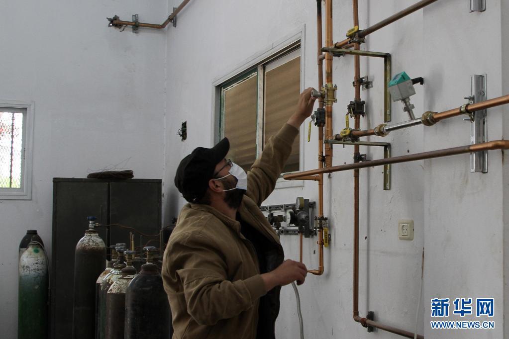 巴勒斯坦加沙:氧气厂开业