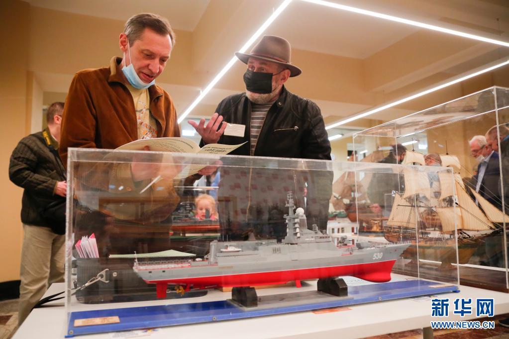 莫斯科举行舰船模型比赛 超160艘模型参加