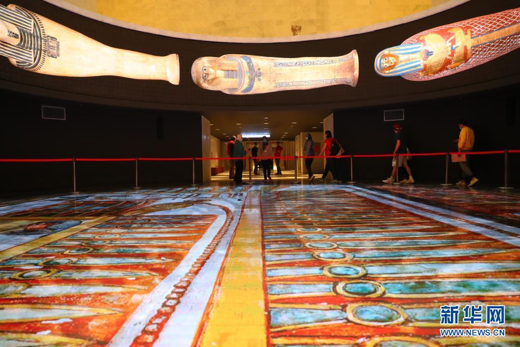 埃及文明博物馆王室木乃伊馆18日向公众开放