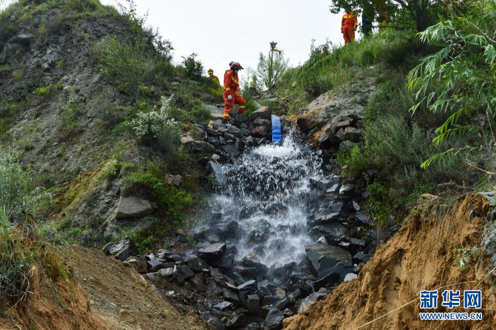 直击|山西代县铁矿透水事故:救援现场开始排水