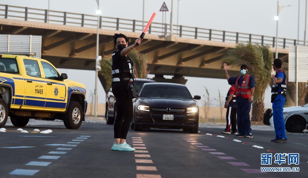 """科威特:""""免下车""""新冠疫苗接种"""
