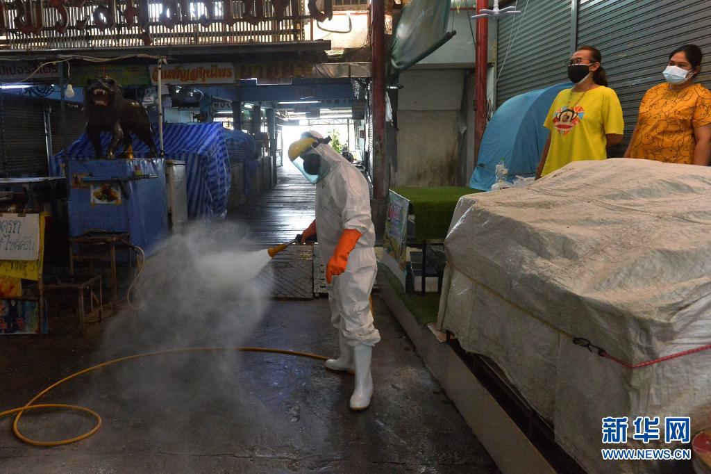 直击 泰国:生鲜市场消毒