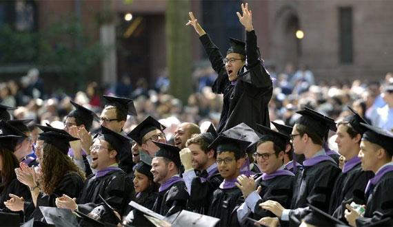 美國耶魯大學舉行2014屆畢業典禮