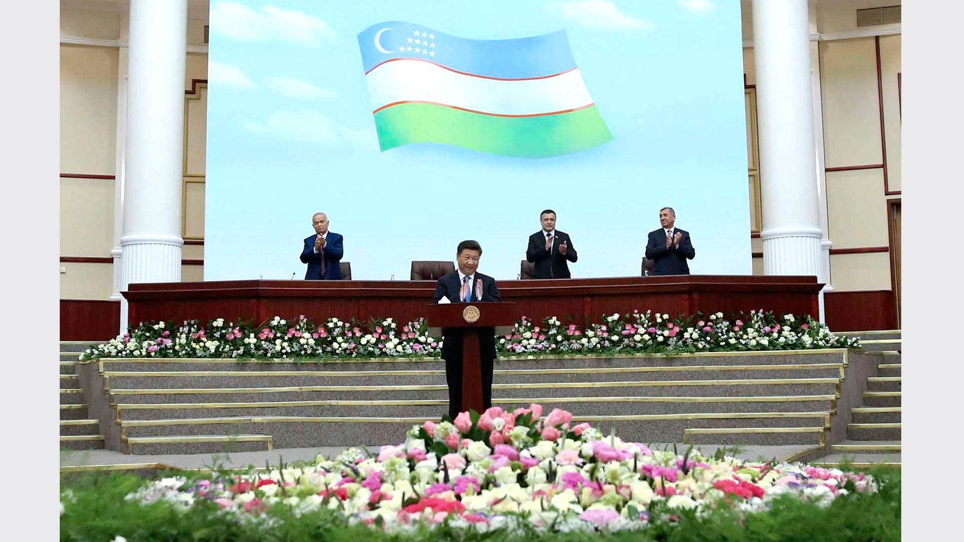 習近平在烏茲別克斯坦最高會議立法院發表重要演講